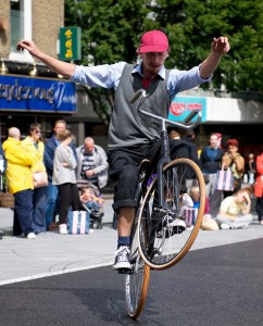 Image of trick cycling specialist, Paddy Waters