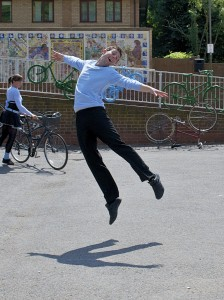 Image of Terry O'Donovan jumping