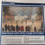 Image from the Hastings Bicycle Ballet with article