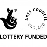 logo for Arts Council England, Lottery Funding