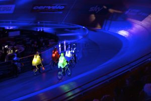 Bicycle Ballet in the London Velodrome © Raysto Images